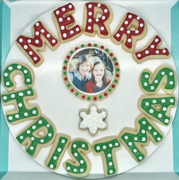 Merry Christmas Cookies with Photo Cookie