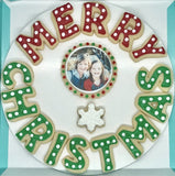 Merry Christmas Photo Cookies