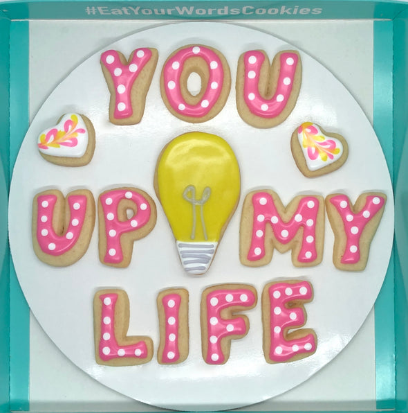 You Light Up My Life Valentines Cookies