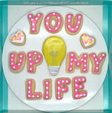 You Light Up My Life Valentine Cookies