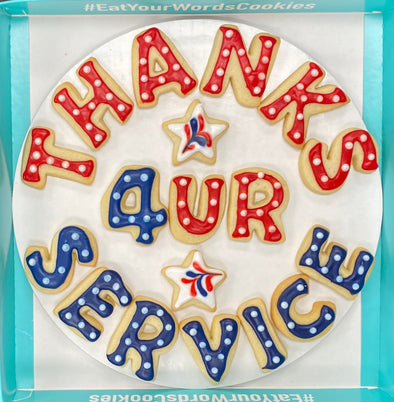 Thanks for your Service Veterans Day Cookies