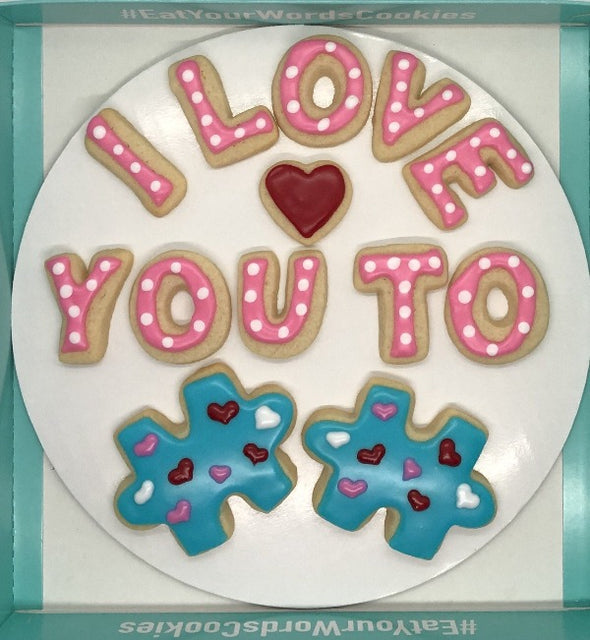 Love You to Pieces Valentines Cookies