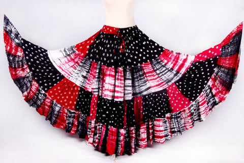 Fusion skirt red/black