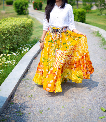Jaipur Fusion Skirt yellow