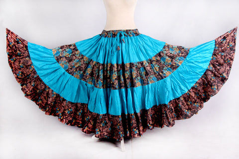 Printed Skirt Blue