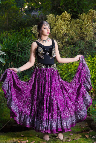Jodha Maharani Skirt Dark Purple