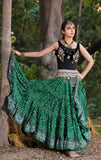 Jodha Maharani Skirt green