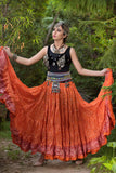 Jodha Maharani Skirt Orange