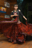 Bollywood skirt copper with padma border