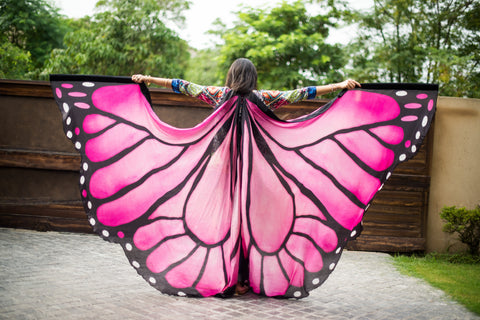 Butterfly Silk ISIS Wings pink