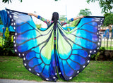 Butterfly Silk ISIS  Wings Green/Blue