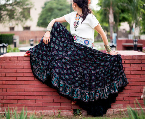 Block print skirt New Collection