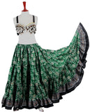 Block Print Skirt Green Beauty