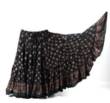 Block Print Skirt Lotus