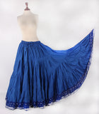 Tribal Belly dance Ashwarya Skirt  Royal Blue 100% Cotton