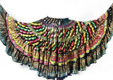Block  Printed Skirt plus Embroidered With Sheesha
