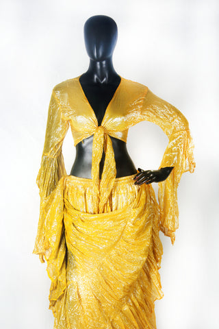 Lurex Tie on top yellow