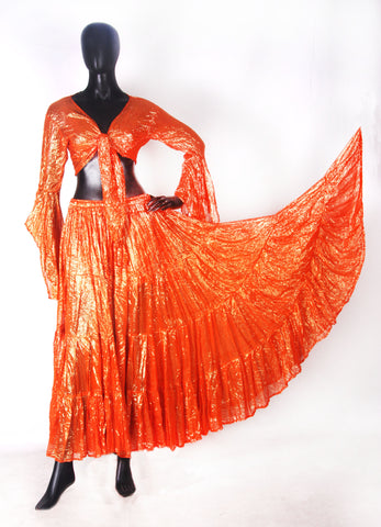 Lurex Tie on top orange