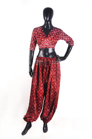 Tribal 2 pcs blouse and harem pant set