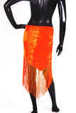 velvet hip scarf dark orange