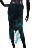 velvet hip scarf dark sea green/teal