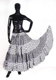 Black/white fusion Block Print skirt 25yards