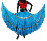 Bollywood skirt Turquoise
