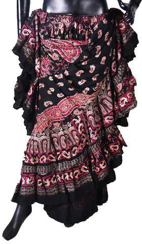 Block print Skirt Shades of Pink