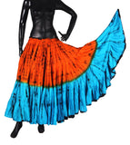 Two Tone  Bollywood skirt with Tiger stripes
