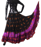 Jaquard bindi Skirt Black/magenta