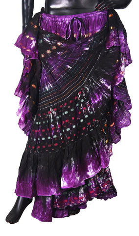 Bollywood skirt Purple Black