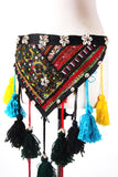 Tribal Embroidery Patchwork Shell Belt