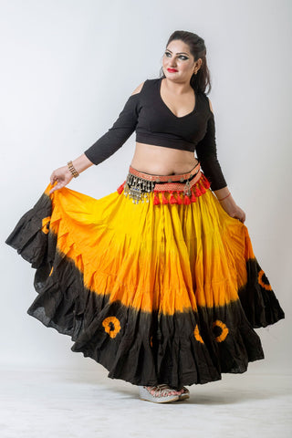 Black drop shoulder Cotton Lycra Choli