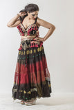 Bollywood skirt black/red/black