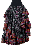 Block print funky paisley skirt with Padma border