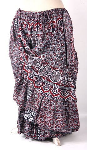 Block print Skirt Lurex