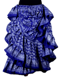 Block print assuit skirt blue/silver in polyester