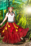 Bindi skirt burgundy