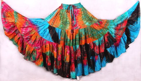 Multi Block print skirt 2017 Collection