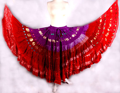Bollywood skirt purple/red