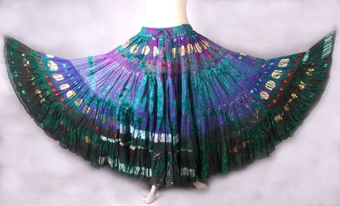 Bollywood skirt caradon purple/turquoise/blue