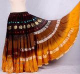 Bollywood skirt mustard brown