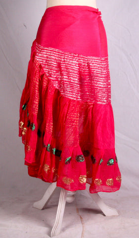 Bollywood Wrapskirt pink