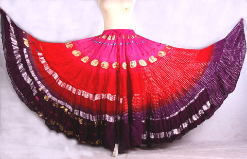 Bollywood skirt pink/red/purple