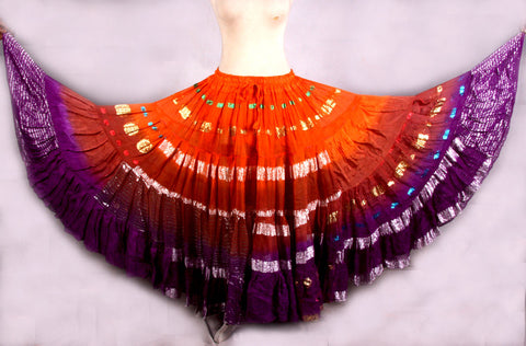 Bollywood skirt orange/purple