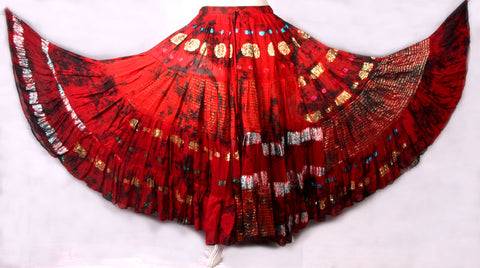 Bollywood skirt caradon red/burgundy