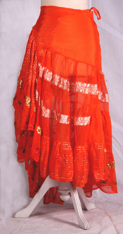 Bollywood Wrap skirt orange