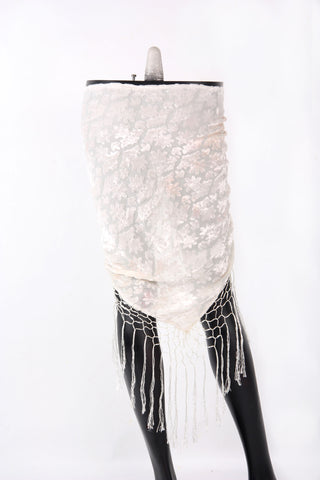 Burnout velvet hip scarf white
