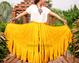 Solid color Skirt mustard 100% cotton