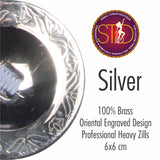 Finger Cymbals / Zills Silver finish 100% Brass 4 pcs Set